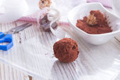 Home-made nibble - muesli - small ball — Stock Photo