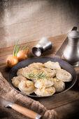 Pierogi with meat — Stock Photo