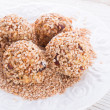 Home-made nibble - muesli - small ball — Stock Photo