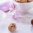 Home-made  nibble - muesli - small ball - Stock Photo