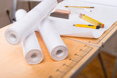 Pasting table — Stock Photo