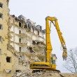 Block of flats demolition - Stock Photo