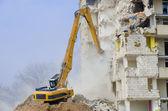Block of flats demolition — Stock Photo