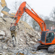 Stock Photo: Block of flats demolition