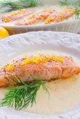 Saumon grillé à l'aneth — Photo