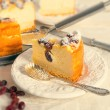 Cranberry Cheesecake - vintage effect — Stock Photo