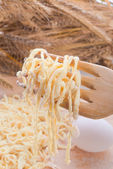 Home-baked noodles — Stock Photo
