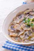 Roasted mushrooms with onions — Stock Photo