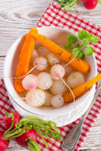 Tasty roasted radishes — Stock Photo