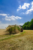 Tractor with baler — Stock Photo