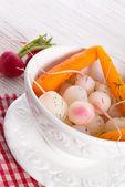 Tasty roasted radishes — Stock Photo