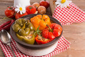 Stuffed peppers with rice — Stock Photo