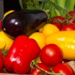 Stock Photo: Papriktomatoes aubergines