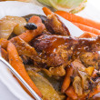 Grilled chicken with vegetables — Stock Photo
