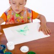 Stock Photo: Paint with finger paints