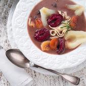 Czernina is a Polish soup — Stock Photo