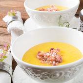 Cream soup of potato — Stock Photo