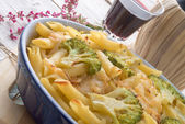 Pasta Casserole with vegetables — Stok fotoğraf