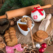 Christmas little places oatmeal — Stock Photo #33716029