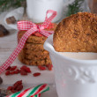 Christmas little places oatmeal — Stock Photo #33769053
