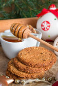 Christmas little places oatmeal — Stockfoto