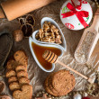 Christmas little places oatmeal — Stock Photo #33902363