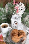 牛奶和饼干为圣诞老人 — 图库照片
