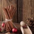 Stock Photo: Christmas cinnamon aniseed