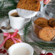 Milk and cookies for santa — Stock Photo #34071949