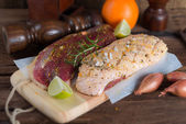Marinated duck breast — Stock Photo