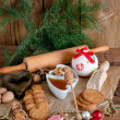 Christmas little places oatmeal — Stock Photo #34496693