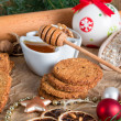 Christmas little places oatmeal — Stock Photo #34501763