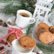 Milk and cookies for santa — Stock Photo #34543467