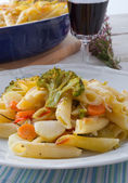 Pasta Casserole with vegetables — Stock Photo