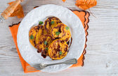 Traditional Polish pumpkin yeast pancakes (Racuchy) — ストック写真