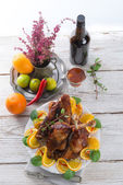 Geese meat for St. Martin's Day — Stock Photo