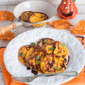 Traditional Polish pumpkin yeast pancakes (Racuchy) — Foto de Stock