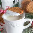 Milk and cookies for santa — Stock Photo #34827729