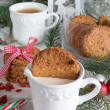 Milk and cookies for santa — Stock Photo #34828525