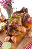 Roasted chickens — Stock Photo