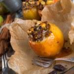 Apfel mit Nuss Karamell Fllung — Stock Photo