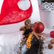 Christmas table deko — Stock Photo