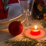 Christmas table deko — Stock Photo #35968591