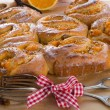 Fresh vanilla orange snails — Stock Photo