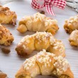 Sweetness Mini almond croissant — Stock Photo