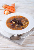 Sharp bean soup — Stock Photo