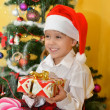 Small girls with presents — Stock Photo #39017661