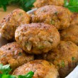 Stock Photo: Rissole with mould cheese and parsley