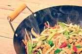 China wok- vintage style — Stock Photo