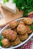 Rissole with mould cheese and parsley — Stock Photo